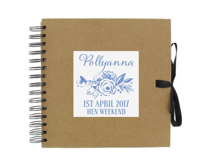 Personalised Scrapbook Hen Do | Weddings | Photo album | Birthday scrapbook | Memories | Guest book | Journal for Bride's