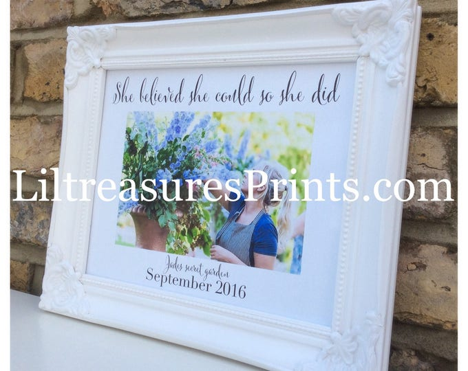 Photo with any quote framed Print | Wall decor | Wedding photo | Photo gift | Home decor | prints.