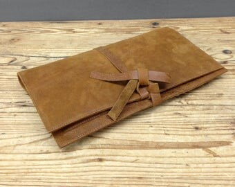 Sale!!! Brown leather clutch Men's clutch Women's clutch leather clutch purse Men's leather clutch Women's leather clutch bag Drawstring