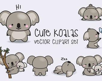 Koala clipart | Etsy