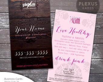 Chic Plexus Slim Business Cards  [Printed & Shipped]