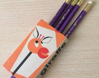 Vintage scholar pencil from Czechoslovakia