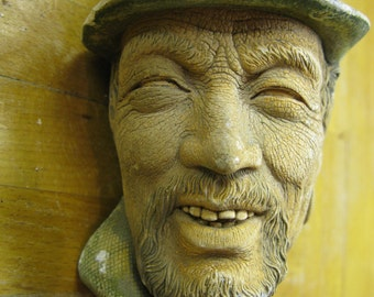 Vintage Collectable Bossons Chalk Head Sculpture Hand Painted Romany Gypsy