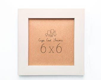 6x6 picture frame sand wood frame for instagram prints or tiles