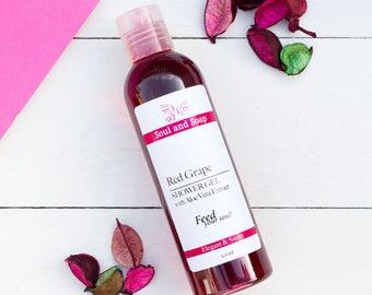 Red Grape Shower Gel - Body Wash - Liquid Soap - Bath & Body - Shower Foam - Eco Friendly Skincare - Vegan Friendly - Aromatherapy Bath