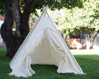 XS 4ft Vintage teepee photo prop tent / Kids play tent/ baby teepee photo prop