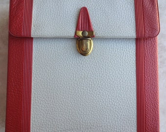 Vintage 45 Record Vinyl Carrying Case Red and Grey Vinyl 1970s