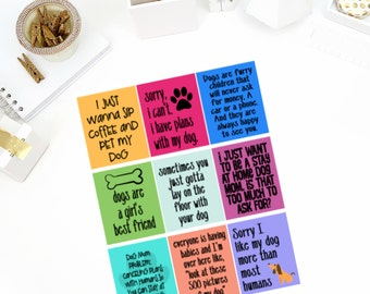 Dog Mom #1 Quotes Stickers! Perfect for your Erin Condren Life Planner, calendar, Paper Plum, Filofax!