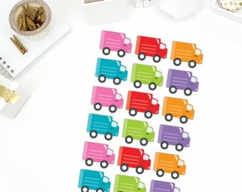 Delivery Truck Stickers! Perfect for your Erin Condren Life Planner, calendar, Paper Plum, Filofax!