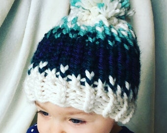 Fair Isle Baby Hat - Toddler hat - Child Hat- Winter Hat - Newborn phot prop -