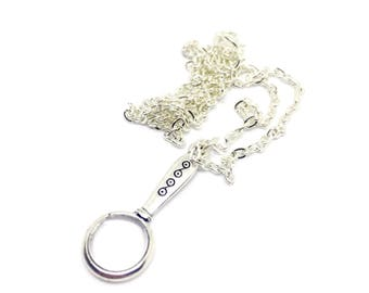 Magnifying glass charm necklace
