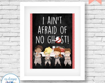 Ghostbusters Printable, Ghostbusters Sign, 8x10 Ghostbusters Digital Printable, Girl Ghostbusters