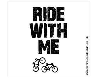 Cycling Card - RIDE WITH ME