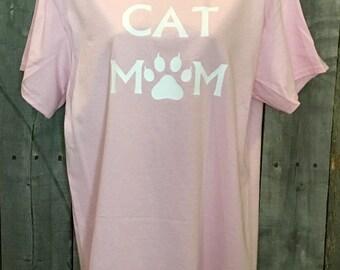Cat Mom shirt, custom shirt, cat shirt, cat love