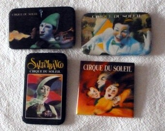 VINTAGE Set of Four Cirque du Soleil pins