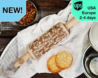 Chihuahua - MINI laser engraved rolling pin