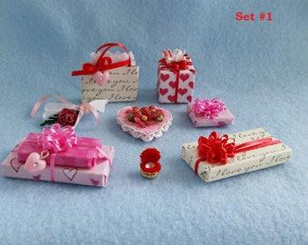 Surprise Your Valentine - Miniature Dollhouse 1/12th scale Valentine Gift Set