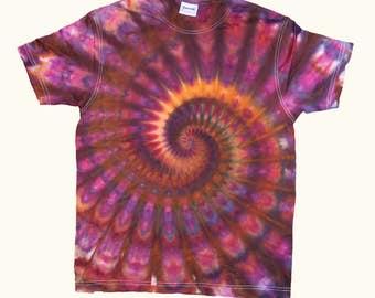 Tie Dye Spiral T-Shirt Size S