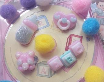 Cute pins pacifier baby bottle pastel little
