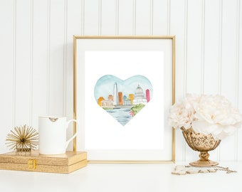 Washington DC Love Art Print