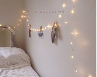 Room Decor, Tapestry Lights, Dorm Decor, Lighting, Dorm Room Decor, Hanging Wall Lights, Dorm Room Headboard, Dorm Decorations PLUG IN (RD)