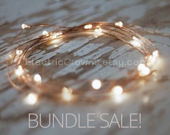 Rustic Wedding Decor, String Lights, Rustic Wedding Table Decor, Centerpiece Battery Fairy lights 6.6ft BUNDLE  (K2)