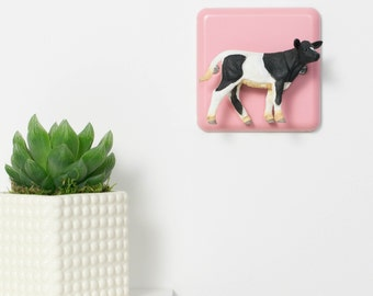 Pink Cow Light Switch for Nurseries, the Kitchen or Bedroom - Pink Nursery Light Switch - Pastel Pink - Nursery Lighting -Pink Nursery Decor