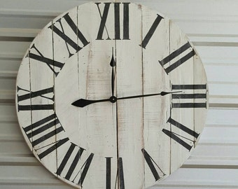 "24in ""Oversized Classic"" farmhouse wall clock - Oversized farmhouse wall clock - large clock - big clock - trending - popular items"