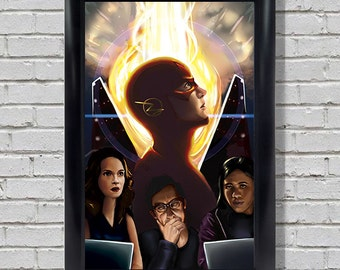The Flash - Barry Allen - STAR Labs Art Poster Print