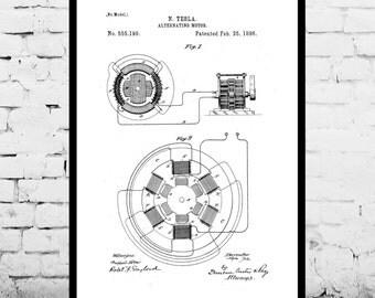 Tesla motor etsy tesla alternating motor print tesla motor patent tesla motor print tesla art malvernweather Gallery