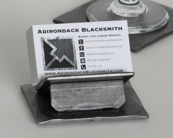 Hand Forged Business Card Holder by Adirondack Blacksmith - ai