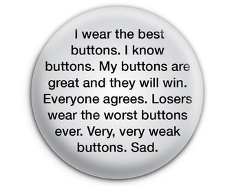 The Best Button, The Greatest Button Pinback Button // Pin // Badge