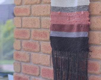 Striped Minimalist Wall Hanging   Weaving   Tapestry   Tissage Mural   Wandbehang