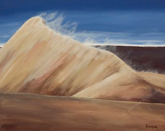 Sand dune desert print of a painting on canvas artwork wall art home decor decoration sky nature