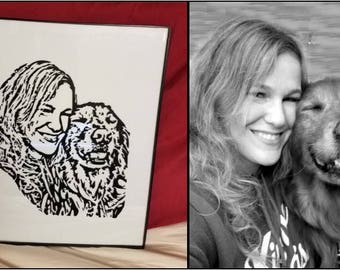 Personalized vinyl artwork from your favorite photograph
