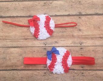 Baseball Headband - Baby Baseball Headband - Newborn Headband - Baseball Headband - Newborn Headbands - Baby Headbands - Girl Headband