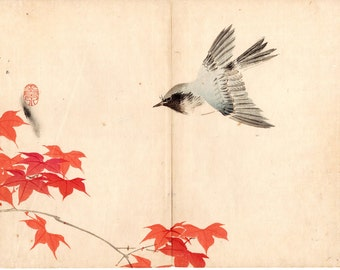 1891, Japanese antique woodblock print, Mochizuki Gyokusen