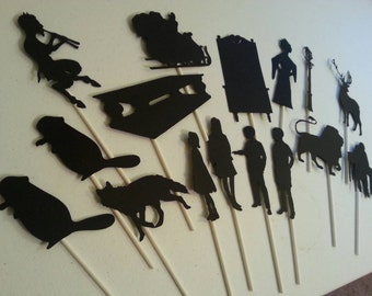 Handmade Shadow Puppets ~ Fantasy Die Cut Puppets ~ Teaching Resource ~ Storytelling Tools ~ Handcrafted Fantasy Story Puppets ~ Magical
