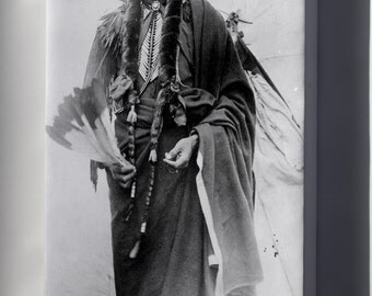 Canvas 24x36; Chief Quanah Parker Of The Kwahadi Comanche