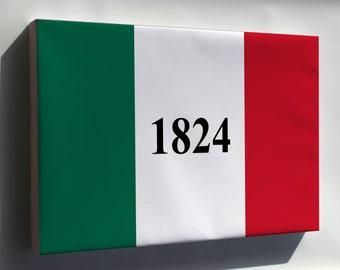 Canvas 24x36; Alamo Flag