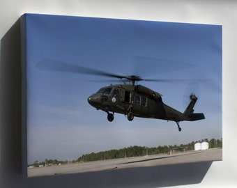Canvas 24x36; Uh-60 Black Hawk Helicopter Gulfport Miss