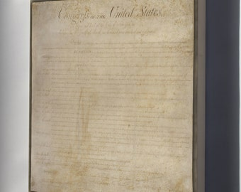 Canvas 24x36; United States Bill Of Rights