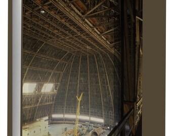 Canvas 16x24; Goodyear Airdock Interior