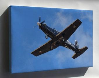 Canvas 16x24; Beechcraft T-6 Texan Ii Overhead