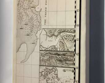 Canvas 16x24; Map Of Boston Harbor, Annapolis Harbor 1733