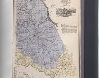 Canvas 16x24; Map Of Brown Co., State Of Texas  1876