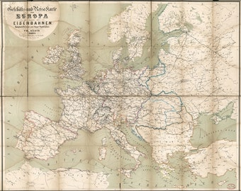 16x24 Poster; Map Of Europe 1866 In German