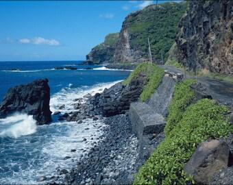 16x24 Poster; Hana Belt Road, Between Haiku And Kaipahulu, Hana Vicinity Maui County, Hawaii