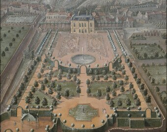 16x24 Poster; A French Estate 18Th Century Park View