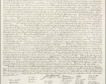 16x24 Poster; Us Declaration Of Independece